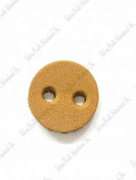 Leather button reinforcement