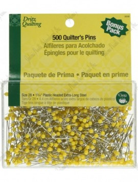 """Dritz Quilting Pins 1 3/4"""" Yellow - 500/pack"""